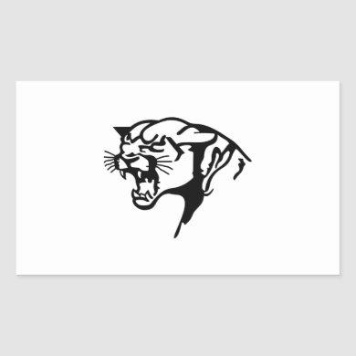 BLACK PANTHER RECTANGULAR STICKER