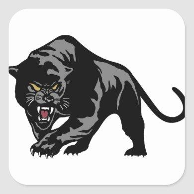Black Panther Square Sticker