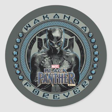 Black Panther | Wakanda Forever Badge Classic Round Sticker