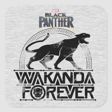 Black Panther | Wakanda Forever Panther Roar Square Sticker