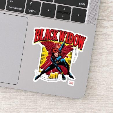 Black Widow Action Comic Graphic Sticker