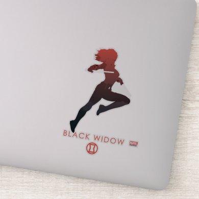 Black Widow Heroic Silhouette 2 Sticker