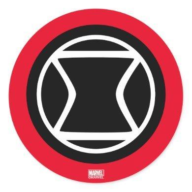 Black Widow Retro Icon Classic Round Sticker