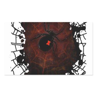 Black Widow (Signature Design) Rectangular Sticker