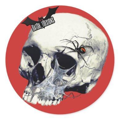 Black Widow Skull Stickers
