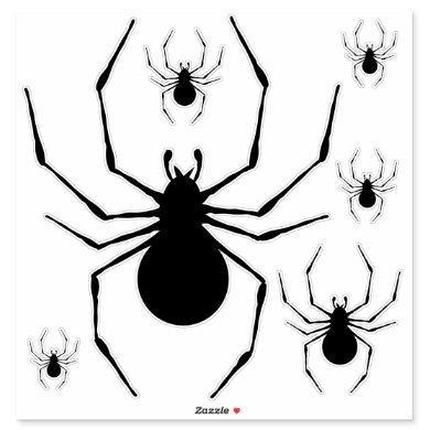 Black Widow Spider Silhouette Various Sizes Sticker