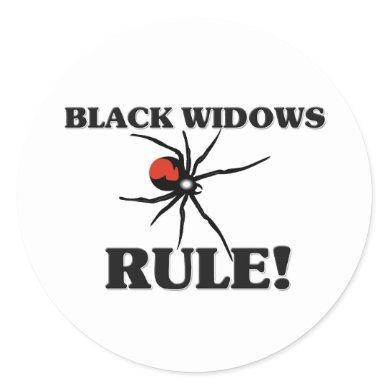 BLACK WIDOWS Rule! Classic Round Sticker