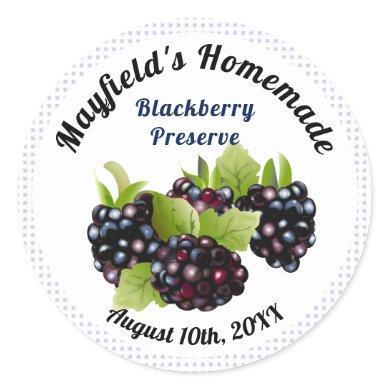 Blackberry Fruit Canning | Jam Jar Label