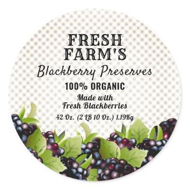 Blackberry Fruit Canning | Jam Label