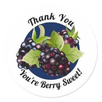 Blackberry Fruit  | Thank You Envelope Seal