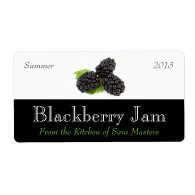 Blackberry Jam Canning Labels