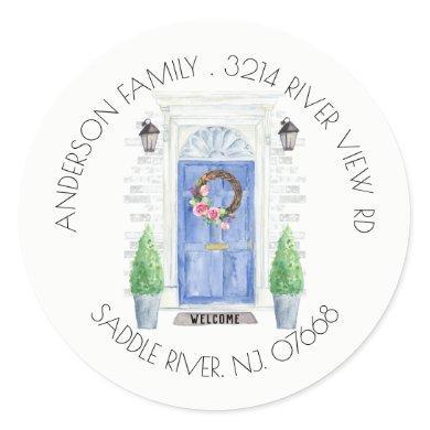Blue Door | New Home Address Label Sticker