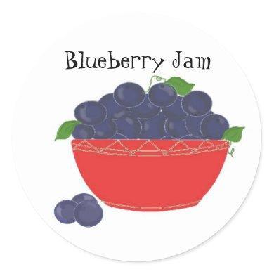 Blueberry Jam Classic Round Sticker