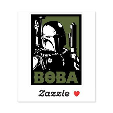 Boba Fett Green Poster Graphic Sticker
