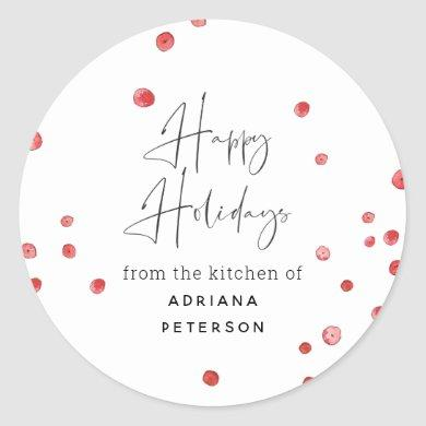 Boozy Cranberries Holiday Baked Goods Classic Round Sticker