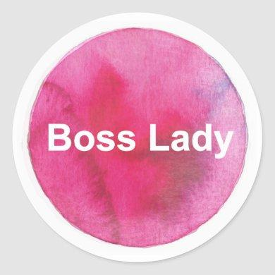 Boss Lady Sticker - Feminist Sticker, Funny Pink