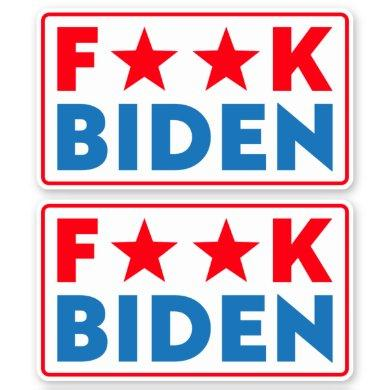 Buck Fiden funny anti Biden pro Trump Sticker