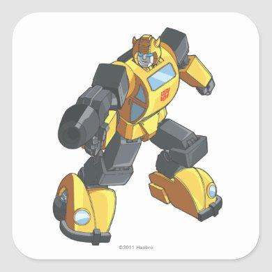 Bumblebee 2 square sticker