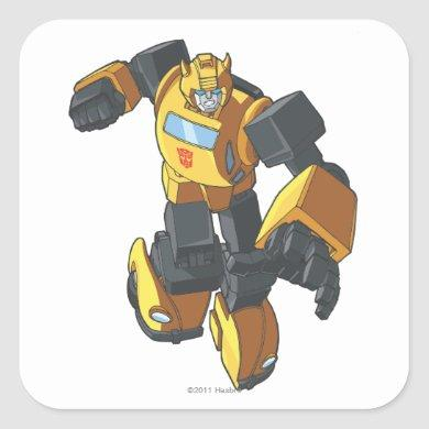 Bumblebee 3 square sticker