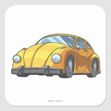 Bumblebee Car Mode Square Sticker