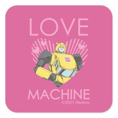 Bumblebee - Love Machine Square Sticker