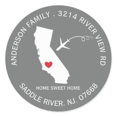 California State | New Home Address Label Sticker