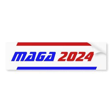 Campaign 2024 election MAGA President TRUMP Bumper Bumper Sticker