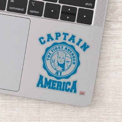 Captain America First Avenger Collegiate Badge Sticker
