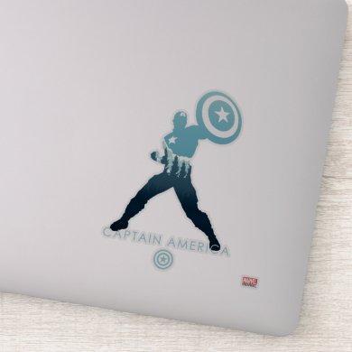 Captain America Heroic Silhouette Sticker