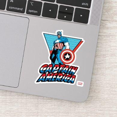 Captain America Retro Character Graphic Sticker