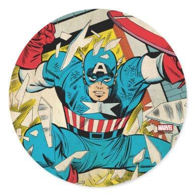 Captain America Revival Classic Round Sticker