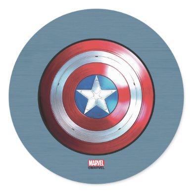 Captain America Shield Badge Classic Round Sticker