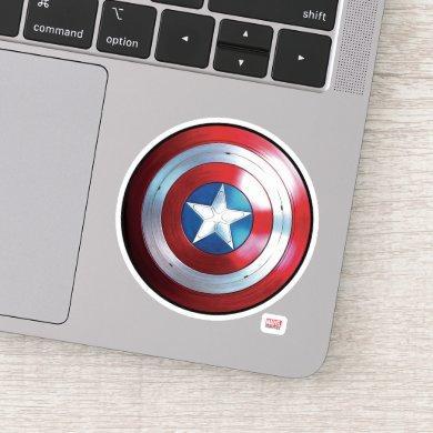Captain America Shield Badge Sticker