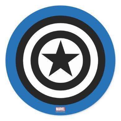 Captain America Shield Icon Classic Round Sticker