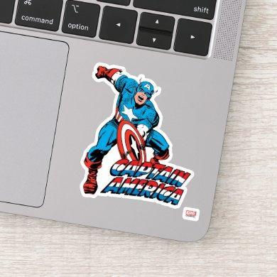 Captain America Shield Slam Sticker
