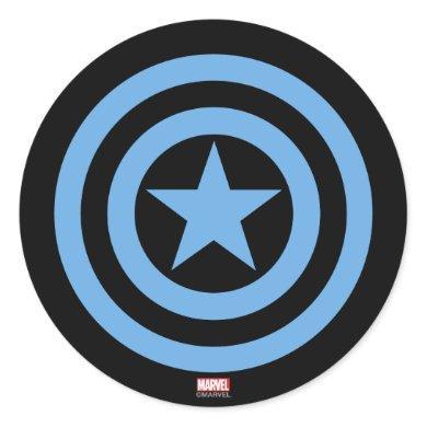 Captain America Super Soldier Logo Classic Round Sticker