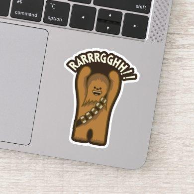 Cartoon Chewbacca - Rarrrgghh!! Sticker