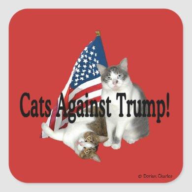 """Cats Against Trump"" Stickers"