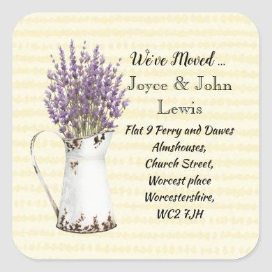 Change of Address Stickers lavender
