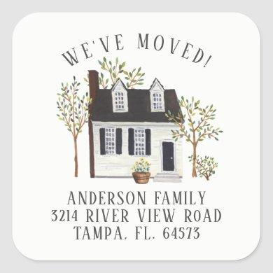 Charming Cape House We've Moved Address Label