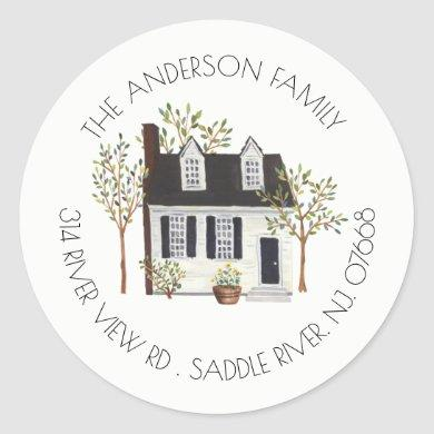 Charming House   New Home Address Label Sticker