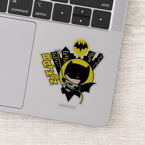 Chibi Batman Scaling The City Sticker