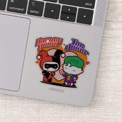 Chibi Harley Quinn & Chibi Joker Hearts Sticker