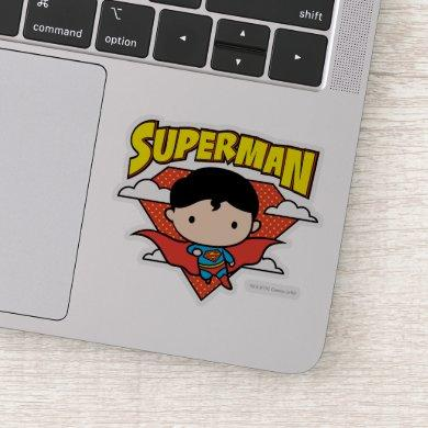 Chibi Superman Polka Dot Shield and Name Sticker
