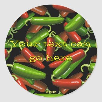 Chili Peppers Classic Round Sticker