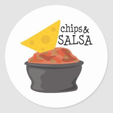 Chips & Salsa Classic Round Sticker