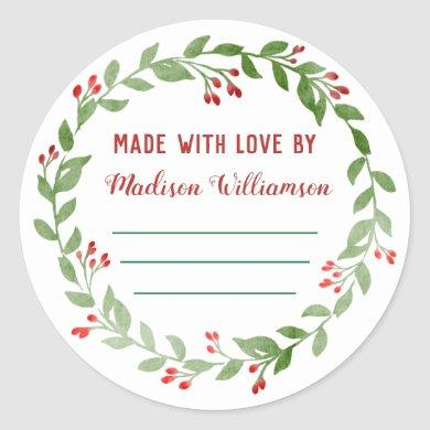 Christmas Canning |Homemade Jam or Pickles Classic Round Sticker