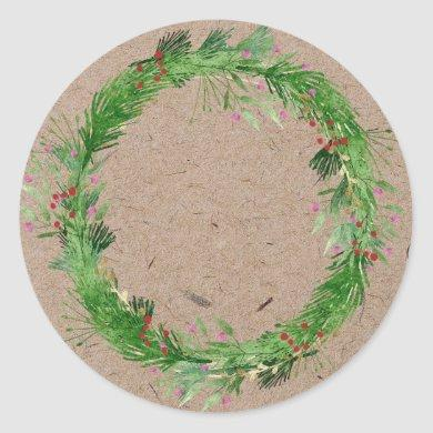 Christmas Jam Canning | Homemade  Mason Jar Classic Round Sticker