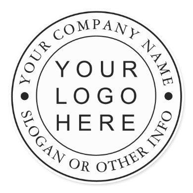 Circle Business Logo Custom Classic Round Sticker