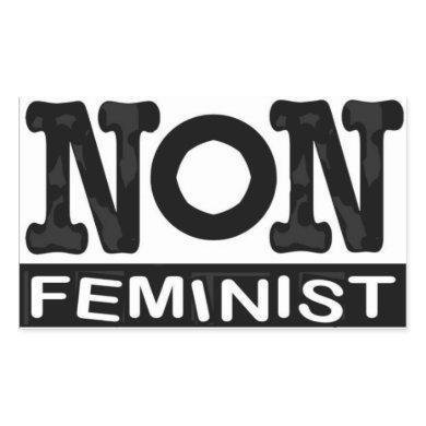 Classic non-feminist logo sticker